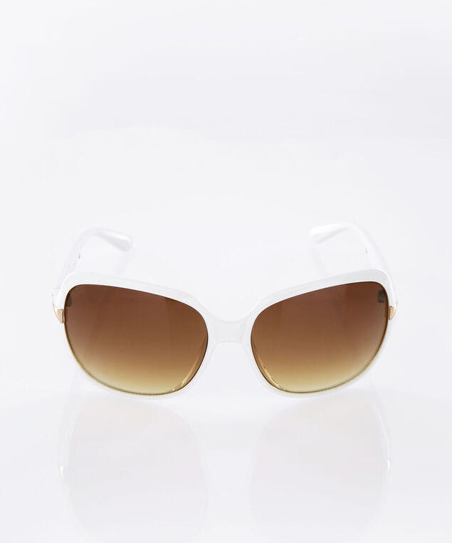 White & Gold Ombre Sunglasses, White/Gold, hi-res