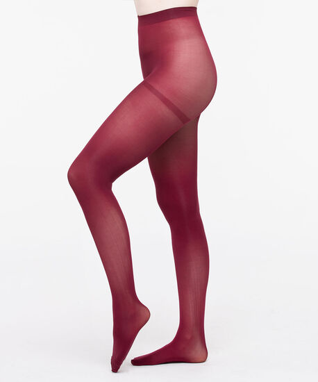 Microfiber Tights, Burgundy, hi-res