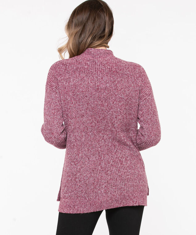 Eco-Friendly Mock Neck Sweater, Chili Pepper Mix
