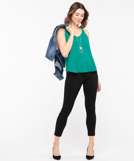 Reversible Layered Tank Blouse, Jade, hi-res