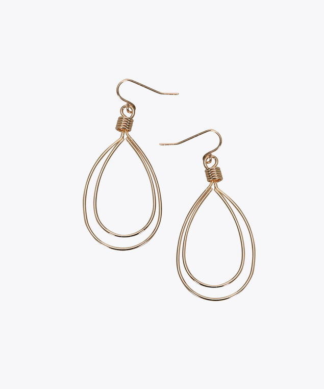 Double-Wire Teardrop Earring, Rose Gold, hi-res