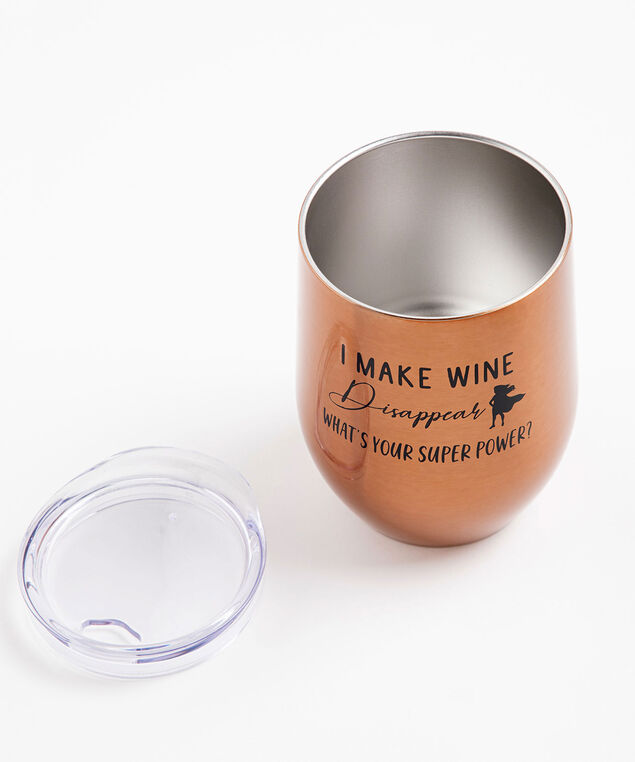 Sassy Insulated Wine Tumbler, Wine Disappear