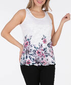 Sleeveless Lace Overlay Top, White/Cameo Pink/Soft Teal, hi-res
