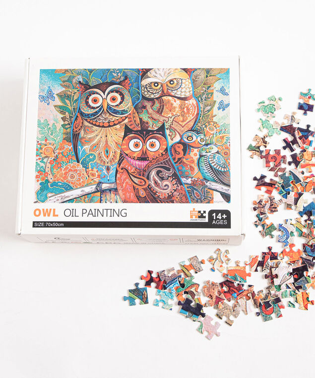 Owl Oil Painting Jigsaw Puzzle, Assorted