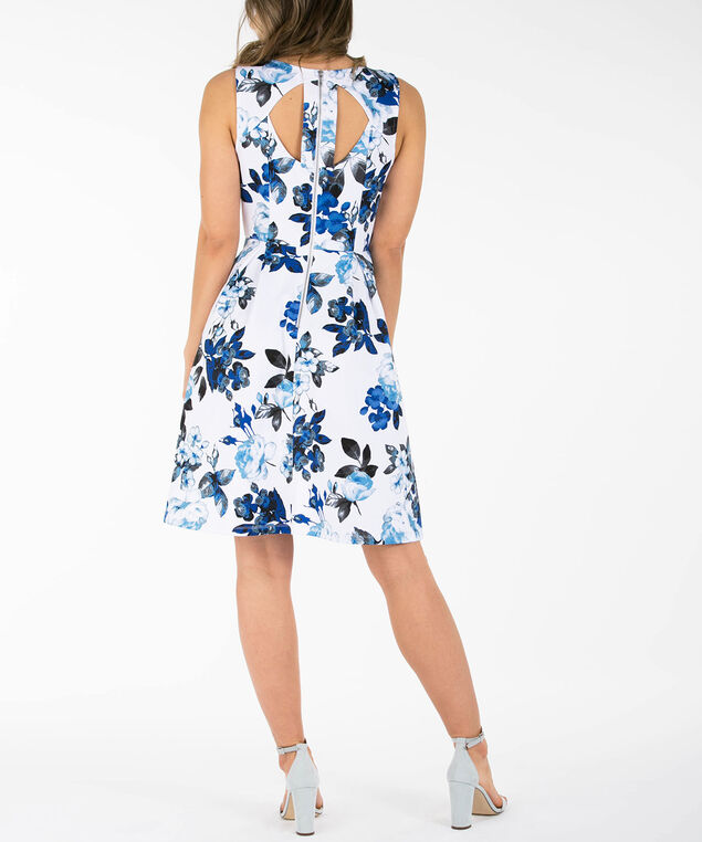 7304b323595 Cut-Out Back Floral Dress