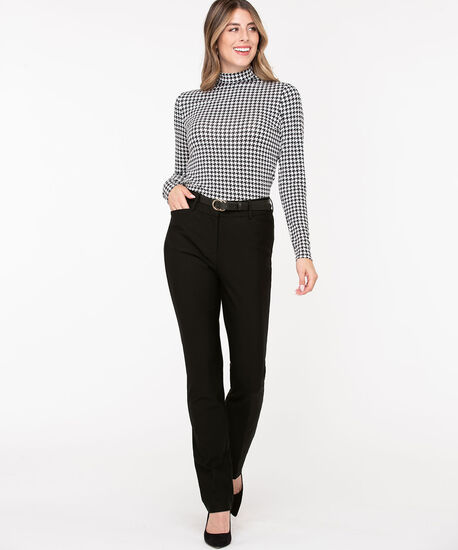 Luxe Ponte Straight Leg Pant, Black, hi-res
