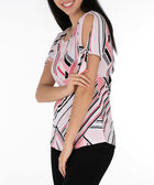 Tie-Sleeve Scoop Neck Top, Black/Pearl/Watermelon, hi-res
