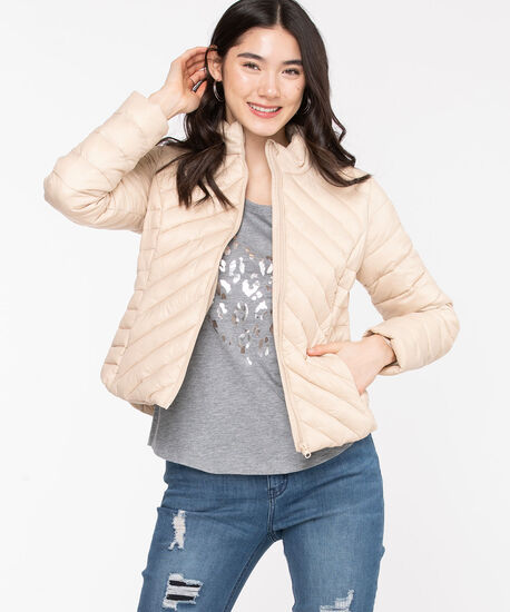 Packable Puffer Jacket, Cement, hi-res