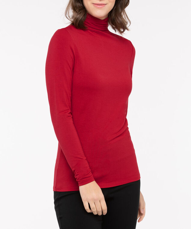 Long Sleeve Layering Essential Turtleneck, Red, hi-res