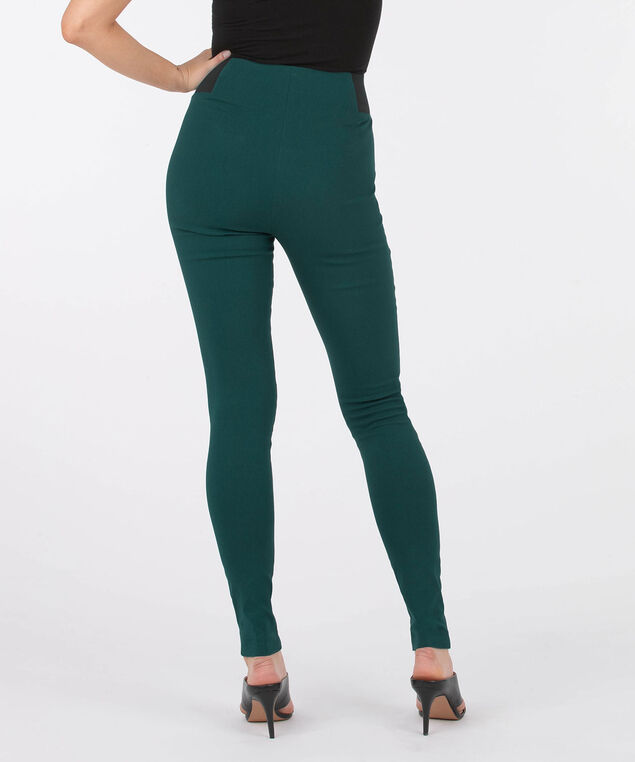 Microtwill Pull On Super Slim Leg, Ivy, hi-res