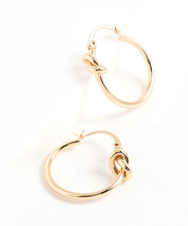 Knotted Hoop Earring, Gold