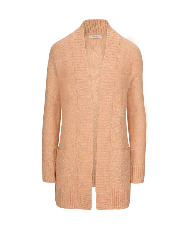 Speckled Open Cardigan, Apricot, hi-res
