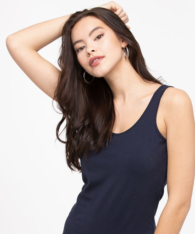 Longer Length Tunic Cami, Summer Navy, hi-res