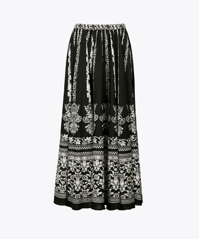 Maxi Circle Skirt, Black/Pearl, hi-res