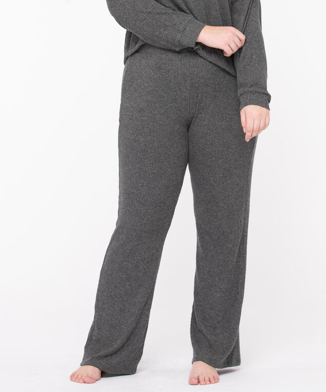 Cozy Ribbed Lounge Pant, Charcoal, hi-res