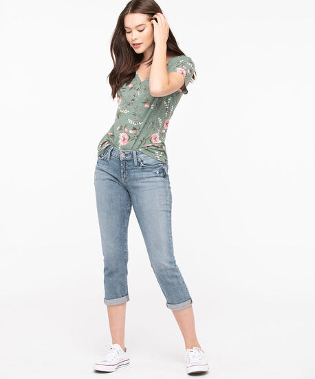 Silver Jeans Co. Suki Capri, Light Wash, hi-res