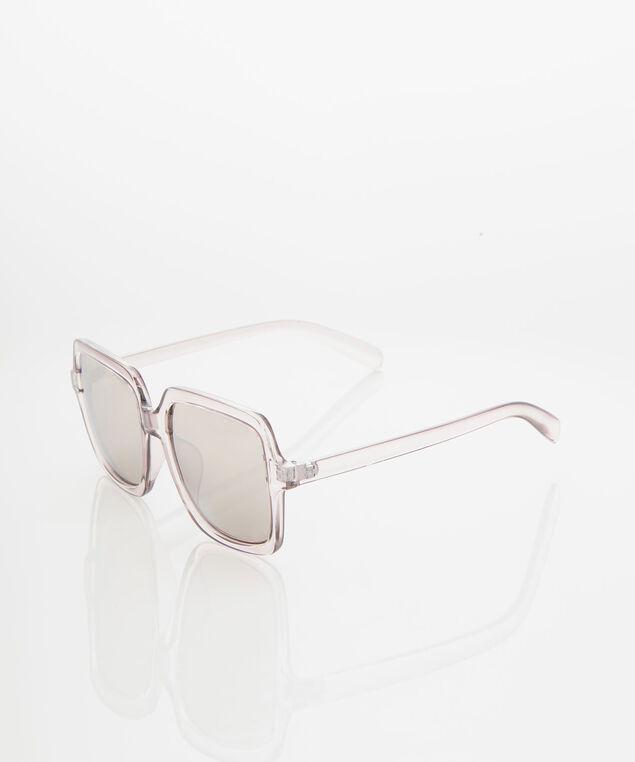Translucent Square Sunglasses, Fig, hi-res