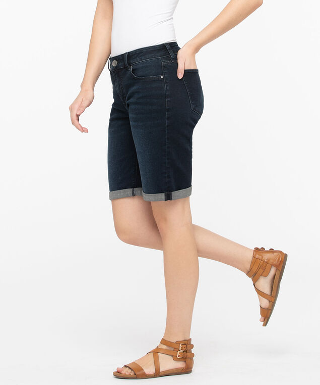 Dark Wash Denim Bermuda Short, Dark Wash, hi-res
