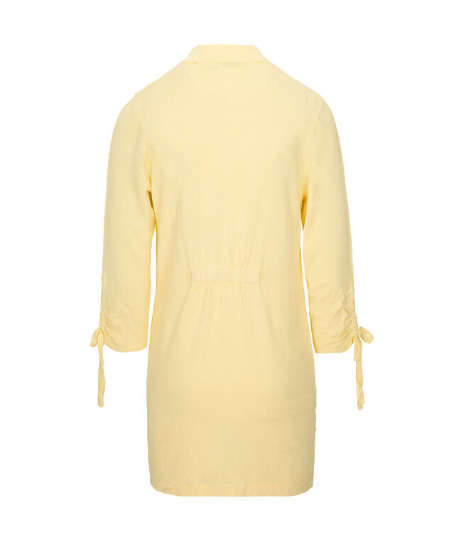Tie-Sleeve Open Cardigan, Soft Yellow, hi-res