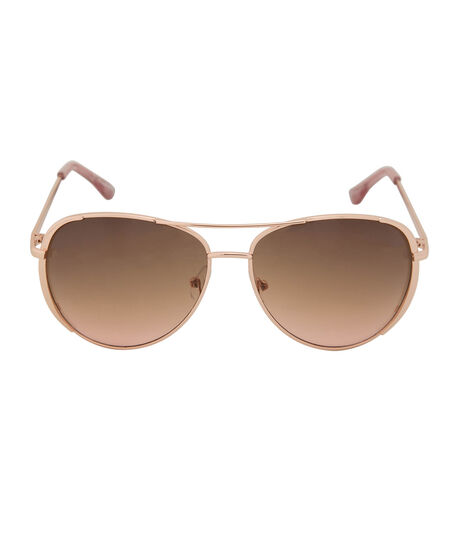 Rose Gold Aviator Sunglasses, Pink/Brown/Rose Gold, hi-res