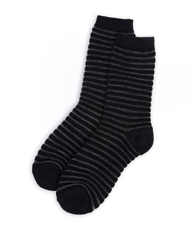 Striped Trouser Sock, Black, hi-res