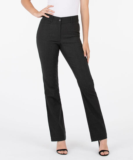 Microtwill Fly Front Bootcut Leg, Charcoal, hi-res