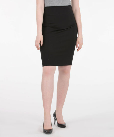 Ponte Pencil Skirt, Black, hi-res
