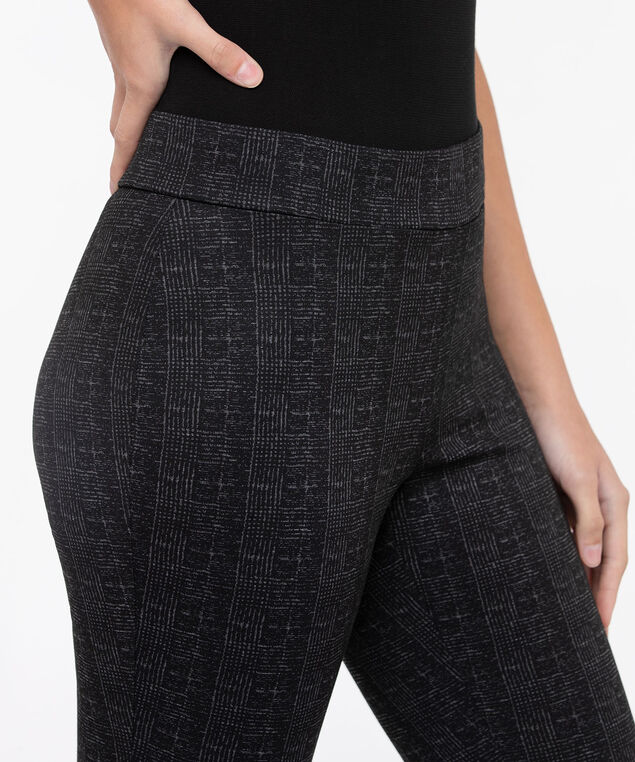 Plaid Ponte Legging, Black/Charcoal, hi-res