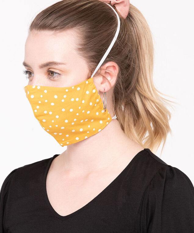 2 Pack of Face Masks, Mustard/Pearl/Soft Blue, hi-res