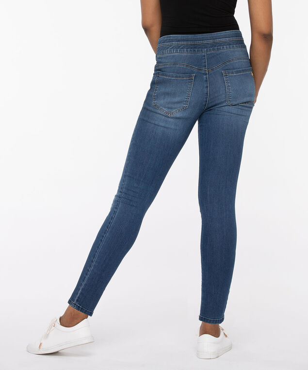 "Democracy ""Ab""Solution High Rise Glider Ankle Jean, Dark Blue, hi-res"