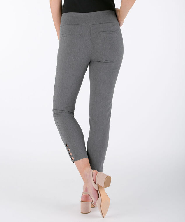 Ladder-Trim Microtwill Crop Pant, Heather Grey, hi-res