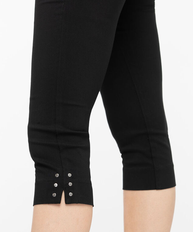 Microtwill Pull On Capri, Black, hi-res