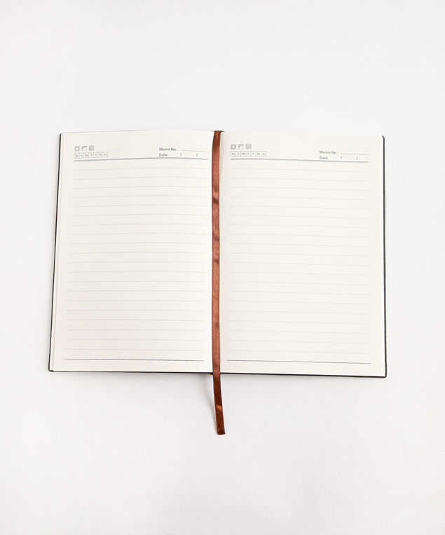 Suede Ruled Notebook, Ink Blue
