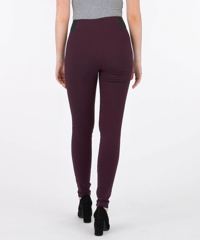 Microtwill Pull On Super Slim Leg - Long, Plum, hi-res