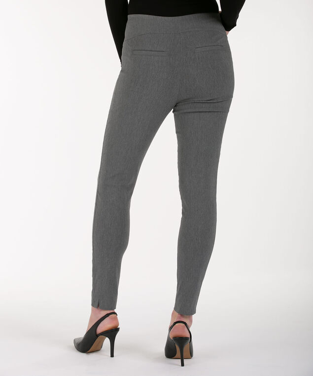 Microtwill High Rise Ankle Pant, Heather Grey, hi-res