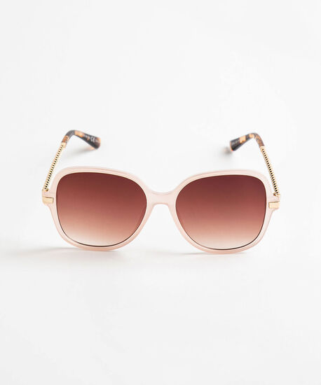 Pink Square Frame Chain Sunglasses, Pink/Gold, hi-res