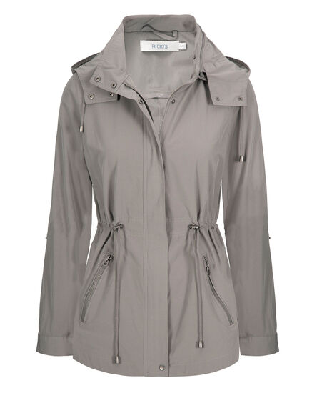 Hooded Cotton Anorak, Grey, hi-res