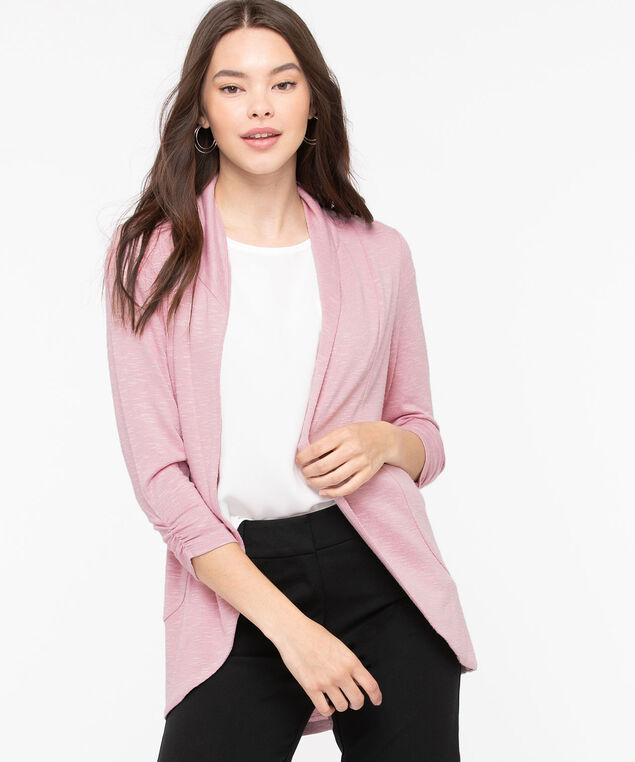 Shawl Collar Cardigan, Blush, hi-res