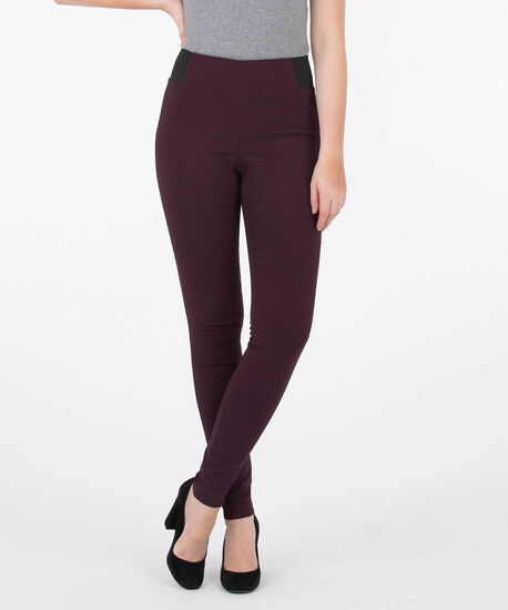 Microtwill Pull On Super Slim Leg, Plum, hi-res