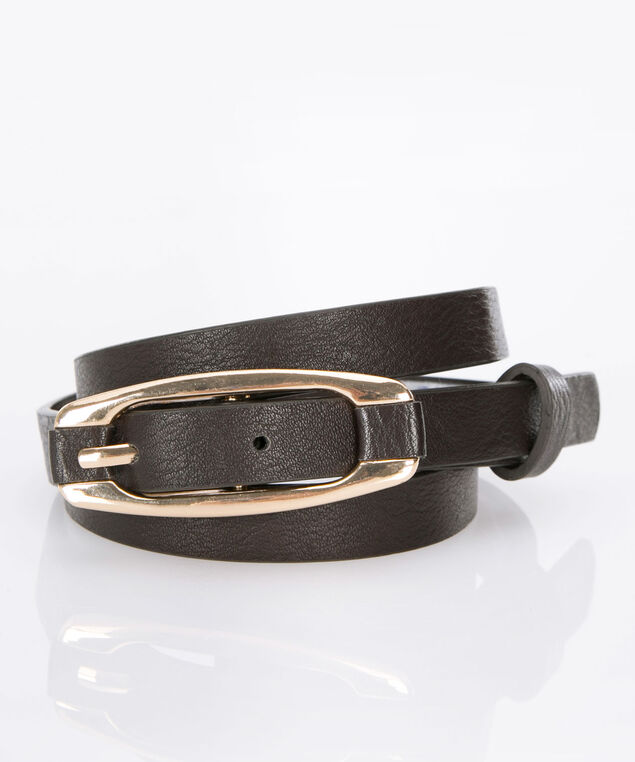 Basic Skinny Belt, Brown, hi-res