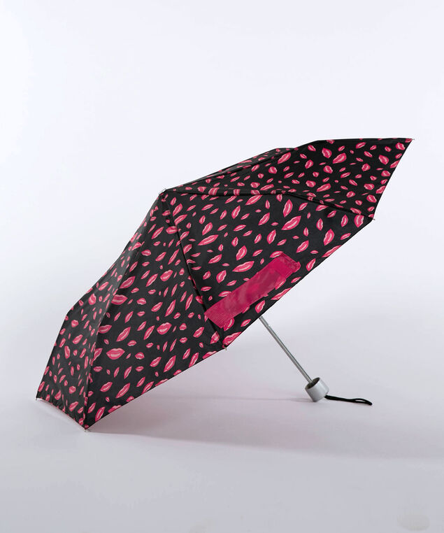 Lipstick Jungle Umbrella, Black/Cherry/Bright Pink, hi-res