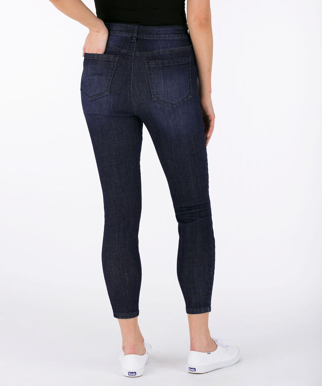 Side Insert Dark Wash Ankle Jean, Dark Wash, hi-res