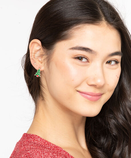 Holiday Earring Trio, Red/Green/Gold, hi-res