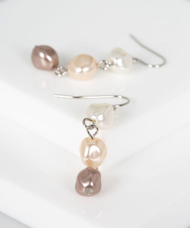 Ombre Natural Pearl Drop Earring, Pearl/Rhodium, hi-res
