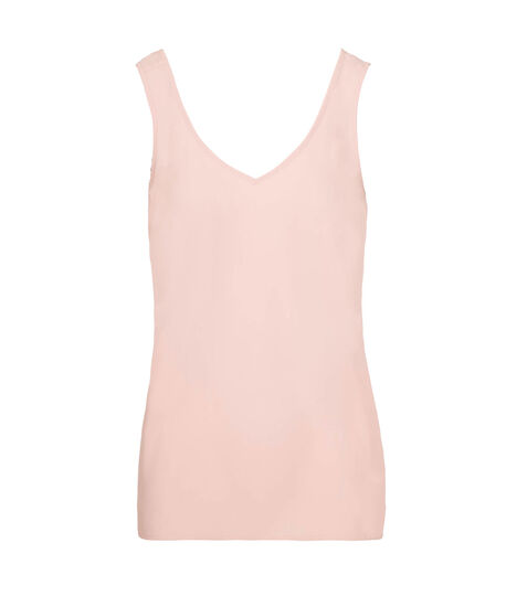 Double-V Woven Layering Cami, Pastel Pink, hi-res