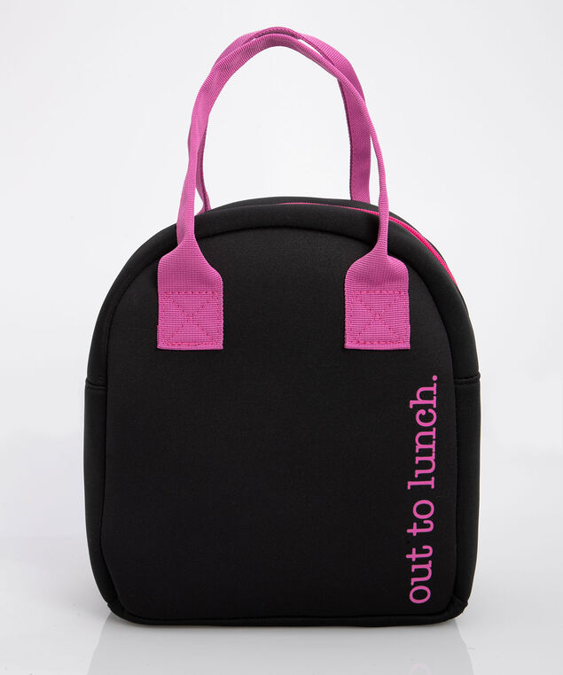 'Out to Lunch' Lunch Tote, Black/Bright Pink, hi-res