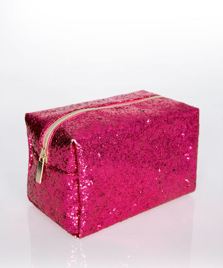 Glitter & Glam Cosmetic Bag, Pink, hi-res