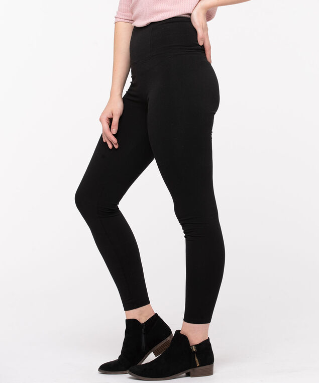 High Rise Black Legging, Black