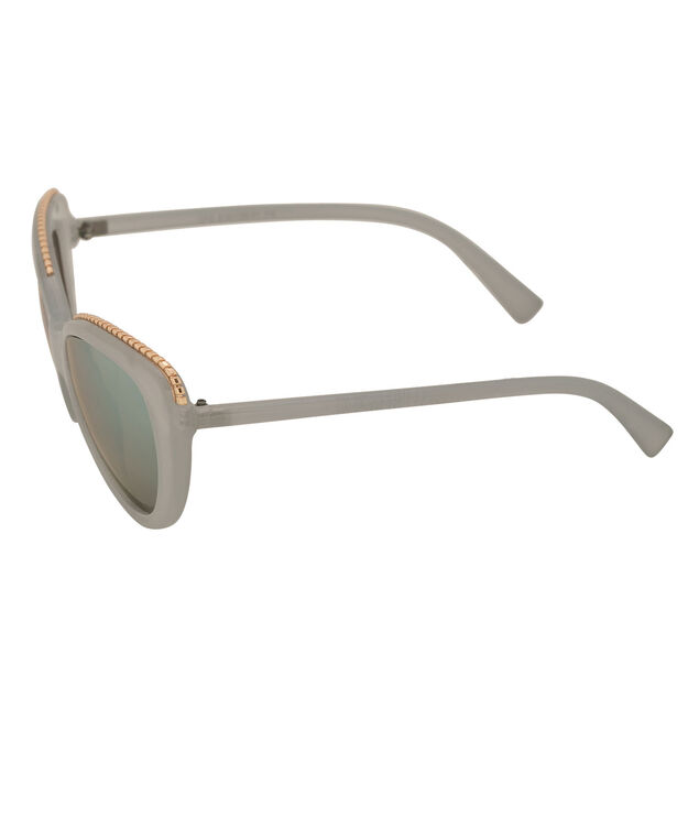Gold-Tipped Cateye Sunglasses, Soft Blue/Gold, hi-res