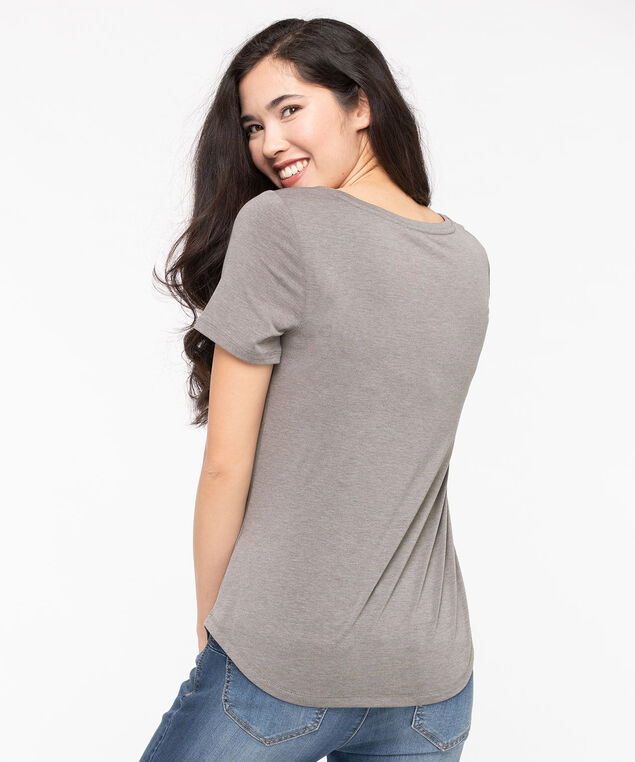 Scoop Neck Graphic Tee, Mid Heather Grey/Black, hi-res
